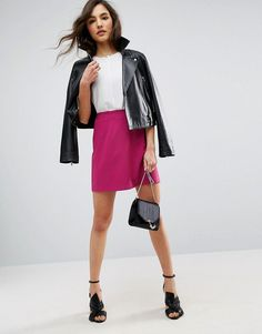 ASOS Tailored A-Line Mini Skirt - Pink
