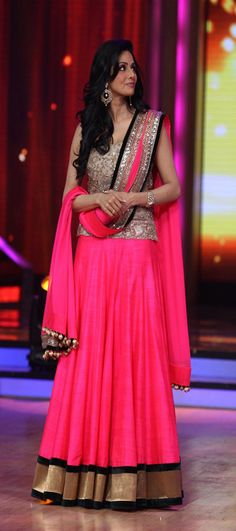 Sridevi Pink Bhagalpuri Wedding Chaniya Choli 22817 - indianclothstore.com