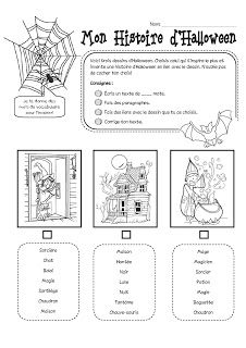 Activité d'écriture - l'Halloween Halloween Math, Halloween Activities, Holidays Halloween, Education And Literacy, French Education, Bricolage Halloween, Back Up, Core French, French Classroom