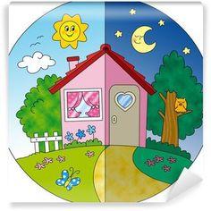Slikovni rezultat za dia y noche infantil Kindergarten Activities, Activities For Kids, Crafts For Kids, Theme Days, Montessori Activities, Kids Prints, Day For Night, Drawing For Kids, Kids Education