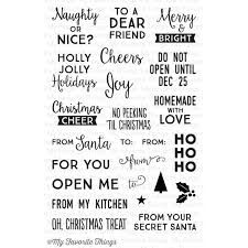 Image result for christmas clear stamps