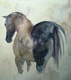 Horse Watercolor.