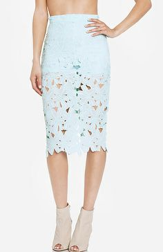 lace skirt. Pastels for spring