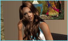 """Melanie""  #adriannasimmie #sugahsplace #downloads #modelingagency #TS2 #model #sims2"