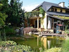 Kąpielowe oczko przy domu - wizyta w ogrodzie