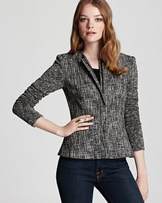 Theory Jacket - Alimo C. Aglow Tweed | Bloomingdale's