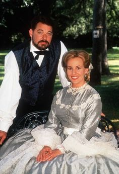 Jonathan Frakes and Genie Francis in North and South.