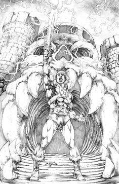 cartoons artwork He-Man by JoseLuisarts on DeviantArt He Man Desenho, He Man Tattoo, Comic Books Art, Comic Art, He Man Thundercats, Art Sketches, Art Drawings, Arte Dc Comics, Universe Art