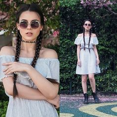 Get this look: http://lb.nu/look/8304223  More looks by Yana P: http://lb.nu/ahandfulofstories  Items in this look:  H&M Dress, Dr. Martens Boots   #casual #romantic #street