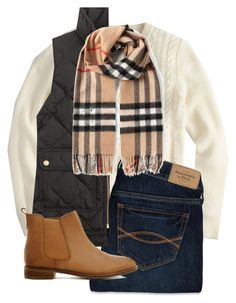 """B is for...burberry and booties!"" by hayley-tennis ❤ liked on Polyvore featuring J.Crew, Abercrombie & Fitch, ASOS and Burberry"