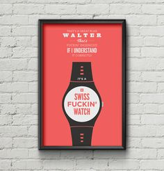 Big Lebowski Poster / The Dude / Home Decor / Quote by TheKnutsens