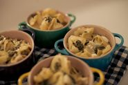 Le Creuset Mini Cocotte Recipes | Ravioli Gratins with Goat Cheese and Basil Pistou