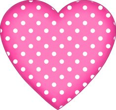 Free Valentine's Day Graphics: Polka-Dot Pink Heart