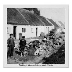 Shop Galway Ireland - Claddagh village early Poster created by irish_gifts. Personalize it with photos & text or purchase as is! Old Irish, Irish Celtic, Irish Tea, Galway Ireland, Ireland Travel, Ireland Map, Ireland Vacation, Old Pictures, Old Photos