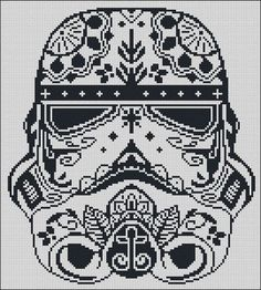 BOGO FREE! Storm Trooper, Star Wars Cross Stitch Pattern Stormtrooper Needlecraft Sugar Skull Embroidery Needlework Instant Download #002-1