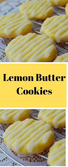 Lemon Butter Cookies Summertime, how I miss thee! Here in Michigan we are in the dead of winter and it is that time of the year where I start counting down the days till summertime! Lemon Desserts, Lemon Recipes, Köstliche Desserts, Baking Recipes, Cookie Recipes, Delicious Desserts, Dessert Recipes, Lemon Butter Cookies Recipe, Lemon Cookies