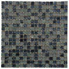 Liz, our product photographer, chose the Tessera Mini Dusk as our #mosaicmonday feature this week. What a beautiful, cool-toned glass and stone mosaic wall tile!