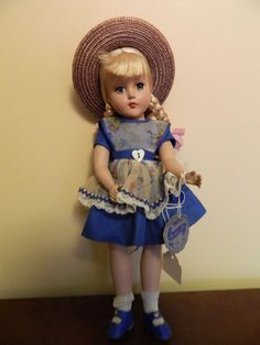 """Very Nice Vintage 1950's Arranbee R&B 14"""" Nancy Lee Doll In Orignal Outfit W/Tag #DollswithClothingAccessories"""
