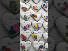 Svadobné medovníčky - YouTube Heart Cookies, Youtube, Youtubers