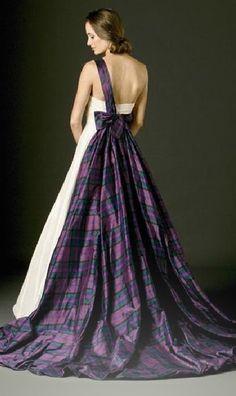 Joyce Young Tartan Wedding Gown
