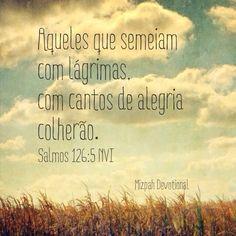 Semear. Chorar. Colher. Alegria. Salmo 126:5