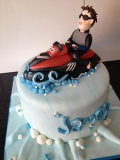 The Cake Wizards @kellyemmaellis   Jet ski cake   www.mm-powersports.com added this pin to our collection