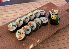 """""""I am going to share my mother's Kimbap recipe for that memory. Her Kimbap taste different than most other Korean Kimbap. She adapted Japanese sushi rice method."""""""