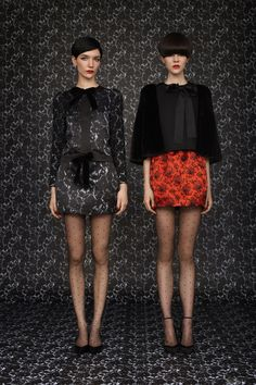 Louis Vuitton Pre-Fall 2013 with model Janice Alida and Ruby Jean Wilson