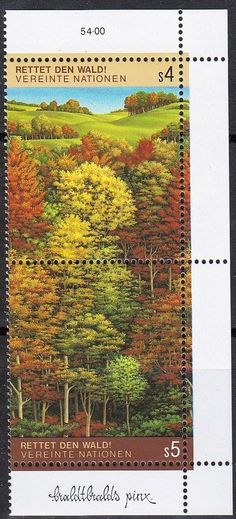 United Nations - Geneva, Switzerland Office postage stamps.