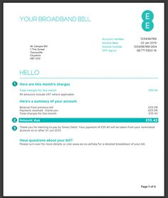 British Gas New Bill Preview Electricity Gas Bill Pinterest - Phone invoice template