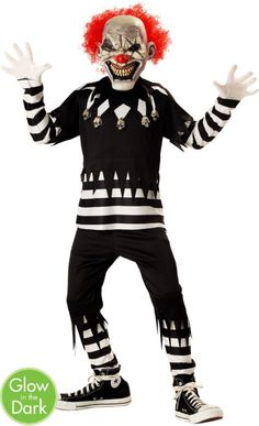 Boys Creepy Clown Costume - Party City