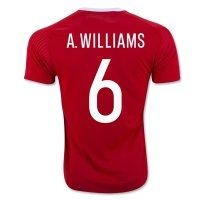 9b42518e2 Wales National Team Euro 2016 WILLIAMS  6 Home Soccer Jersey Soccer  Uniforms