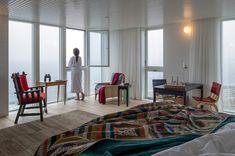 {Newfoundland Homes} Fogo Island Inn Fogo Island Inn, Holiday Places, Small Places, Newfoundland, Home Hacks, Architecture Design, Bedroom Decor, House Design, Russian Wedding