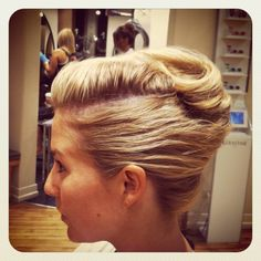 www.chicagostylelust.com modern French twist. party hair. Summer hair style. Street fest hair style. Music festival hair style. Prom updo, Special event hair. Bride or bridesmaid wedding hair styles. pompadour gwen stefani hairstyle
