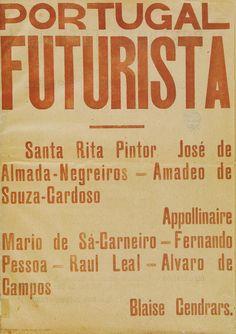 Capa da revista Portugal Futurista, de 1917. Com a influência do Manifesto de Marinetti, esta publicação, da responsabilidade de Santa-Rita Pintor, incluia textos de vários modernistas portugueses e estrangeiros que davam a conhecer o movimento futurista.