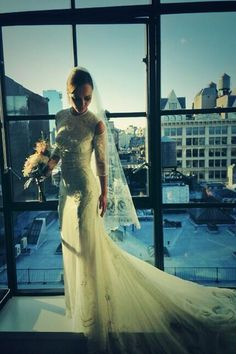 9 Best Celeb Wedding Dresses: Christina Ricci was stunning in Givenchy in 2013.