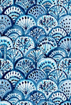 inspirational phone wallpaper Moody hues of indigo take you under the deep dark sea. This mermaid skin print inspires me to never live a shallow life but one of emotional depth, always aiming to do my best and enjoy every moment, however crappy Bohemian Wallpaper, Trendy Wallpaper, Blue Wallpapers, Wallpaper Backgrounds, Iphone Wallpaper, Phone Backgrounds, Textile Pattern Design, Batik Pattern, Pattern Art