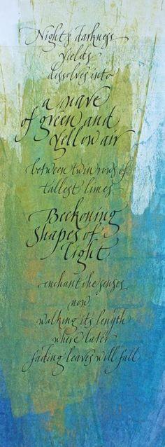 Gaynor Goffe calligraphy