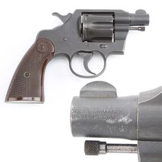 """Colt """"Junior"""" Commando Revolver – Over 50,000 Commando's were sold to the US Military between 1942-45. Only 3,000 were made with 2"""" barrels and these were called """"Junior Commandos"""". Most of the revolvers were sent to the Defense Supplies Corporation for use by Military Police and Civilian Plant Guards. Some of the 2"""" Junior Commandos found their way into the OSS and other clandestine services. It is even said that General Eisenhower carried a 2"""" Junior Commando."""