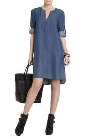 Shop casual dresses for women at BCBG. Browse a variety of casual dress styles, including day dresses, shirt dresses and more. Simple Dresses, Casual Dresses, Casual Outfits, Dresses With Sleeves, Boho Outfits, Denim Dresses, Jeans Dress, Shirt Dress, Denim Fashion