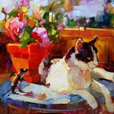 """Daily Paintworks - """"Table for One SOLD"""" - Original Fine Art for Sale - © Dreama Tolle Perry Wall Art Prints, Fine Art Prints, Framed Prints, Canvas Prints, Dragonfly Art, Art Corner, Illustrations, Artist Gallery, Animal Paintings"""