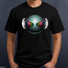 DJ Alien Head T-Shirt. Colors will not match computer screen. Optional: Personalize this design. 100% cotton shirt, available in Men's, Ladies and kids. Choose shirt style, size and color! Colors may vary from screen to actual printed piece. | eBay!