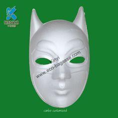 White Batman Masks, Plain White Masks, White Face Masks, Paper Pulp White Masks