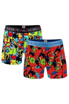 Muchachomalo boxershort set voor jongens Superstition, rood