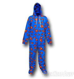 Superman footed onesies - warm, comfy and absolutely awesome!   Is it a bird, is it a plane......