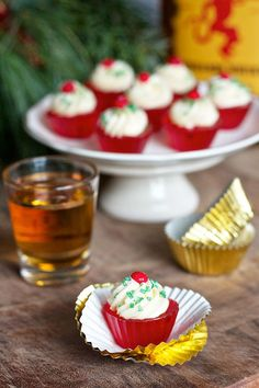 Fireball Jell-o Shot Cupcakes Update:  I tried these and wasn't a huge fan.  Not enough Fireball in the recipe.