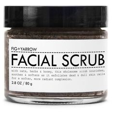 Facial Scrub design by Fig and Yarrow ($22) ❤ liked on Polyvore featuring beauty products, skincare, face care, face cleansers, beauty, fillers, makeup, cosmetics, spa essentials and exfoliating facial cleanser