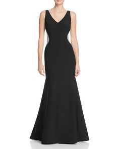 Avery G Embellished Side Gown