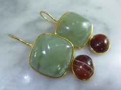 Chandeliers - TOM K Ohrringe Perlen Geschenk Chandelier Jade - ein Designerstück von TOMKJustbe bei DaWanda
