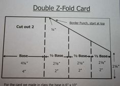 Directions: follow bottom row of numbers for folds (top numbers are for a larger card)